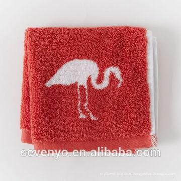 жаккард фламинго красное лицо полотенце мыть ткань Мягкая -037 футов