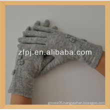 ladies fashion slim-fitting thin wool gloves (custome)