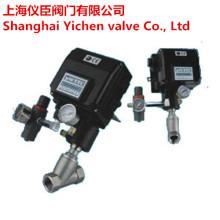 Válvula de assento angular pneumática com posicionador