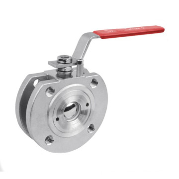 Stainless Steel Wafer Ball Valve with Lever Operator