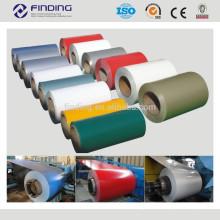 DX51D/CGCC/SGCC/SD250 color recubiertos de PPGI/PPGL prepintado galvalume galvanizado acero inoxidable frío color bobinas de acero laminado