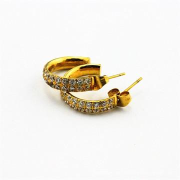 Gold Mitglied 2015 Edelstahl Zirkon Mode Ohrring Haken