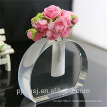 vase de fleur en cristal de forme d'ellipse pour la maison ou la décoration de mariage