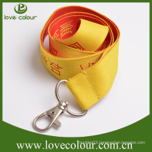 Factory custom plain Detactable woven lanyards no minimum order