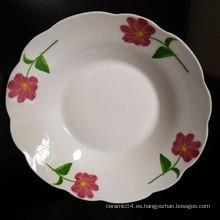 plato de cena de cerámica a granel, plato de cena chino, plato de sopa