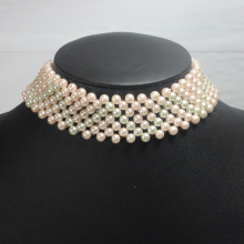 Fake Collar Imitation Pearl Halsband