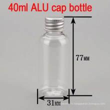 40ml Alu Screw Cap Clear Vide Vaisselle Pet Plastic Biberon