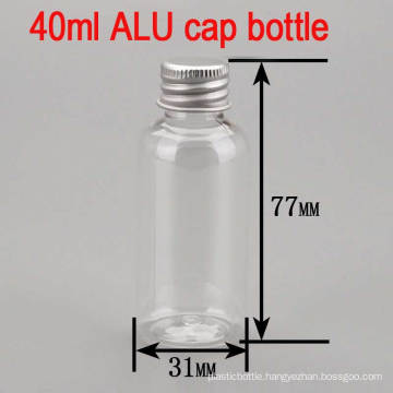 40ml Alu Screw Cap Clear Empty Cream Pet Plastic Bottle