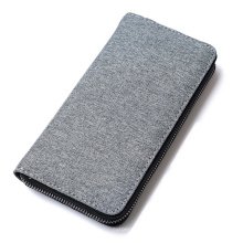 Wholesale High-Quality Custom Logo OEM ODM Oxford Multi Card Slot Phone Holder Pocket Elegant Purse Long Mens Wallet with Zipper