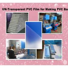 Filme de PVC un-transparente mais quentes para fazer o saco do PVC