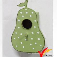 Shabby Chic Pera Verde Casa de Pájaro de madera