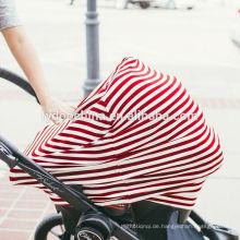 Baumwolle Baby Car Carrier Abdeckung Stillen Pflege Abdeckung für Einkaufswagen Abdeckung