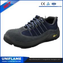 Chaussures de sécurité Protétives en cuir suédé bleu Ufa103