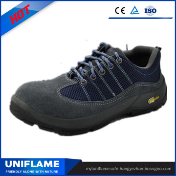 Blue Suede Leather Protetive Safety Shoes Ufa103