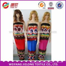 tela de alta calidad del rayón viscoso de la tela del vestido del precio bajo
