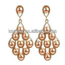 new model 2014 gold hanging pearl earrings