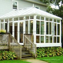 Salle de soleil en aluminium avec portes de jardin pliantes (FT-S)