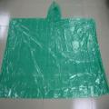 Disposable transparent rain poncho
