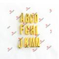 Promotion 30mm DIY Gold Slide Letter Charms for Bracelet (DGL51031)