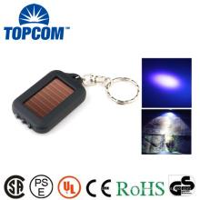 MINI 3 LED de energía solar de energía solar recargable 365NM linterna UV Keychain