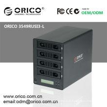 """Gabinete RAID de 3,5 """"HDD com interface de alta velocidade e função livre de ferramentas"""