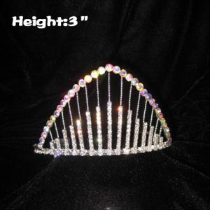 3inch Rainbow Crystal Pageant Coronas y Tiaras