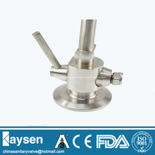 Válvulas de amostragem sanitária para tanque de fermentação de cerveja