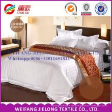 T / C 65/35 weißer Satin Streifen Stoff für Hotel Bettwäsche-Sets