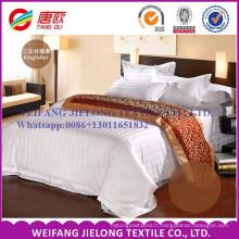 T / C 65/35 tissu rayé blanc de satin pour des ensembles de literie d'hôtel