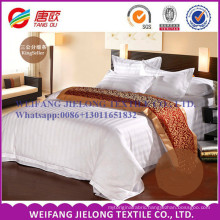 T/C 65/35 white sateen stripe fabric for hotel bedding sets