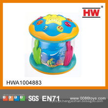 Venda quente B / O brinquedo plástico instrumentos musicais tambor elétrico