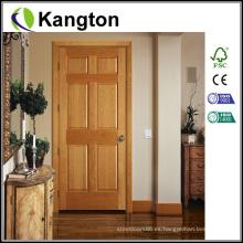 Diseño de talla de roble Puerta de madera principal (puerta de madera)