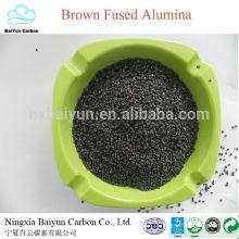Sable d'alumine fusionné brun de différentes tailles pour abrasif / polissant / réfractaire