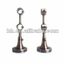Support de tige à rideaux double métal réglable
