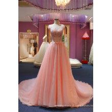 Sequin Pink Chiffon Fashion Dress Evening Gown