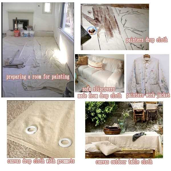 canvas drop cloth usaging