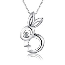 Yiwu chunky wholesale silver jewelry cute Rabbit pendant