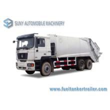 20m 3 6X4 Shacman 3axles Comperssion camion à ordures