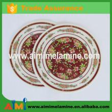 plastic table mat , melamine dinner plate mat , melamine cup mat
