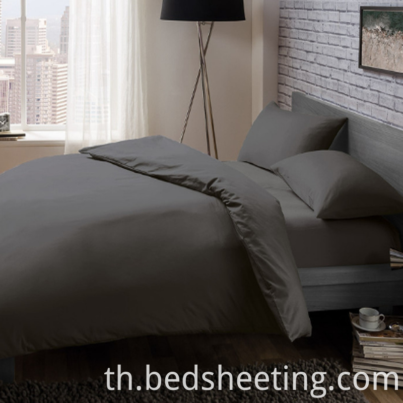 Grey Cvc Percale Duvet Covers