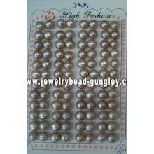 Half drilled pearl AAA grade 7mm, purple