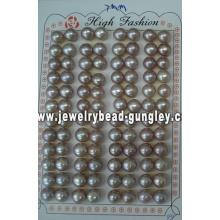 Mitad perforado perla grado AAA 7mm, púrpura