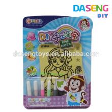 Los niños adhensive la tarjeta de papel y la arena del color para la venta