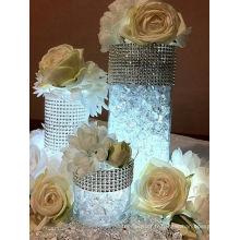 Ruban de finition en maille de strass en vente chaude pour les décorations de mariage