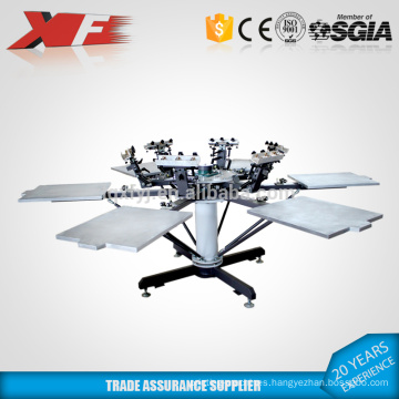 manual t shirt rotary screen printing machine with micro registration