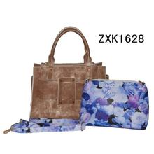 Designer Fashion Tote Bag with Flower Pouches (ZXK1628)
