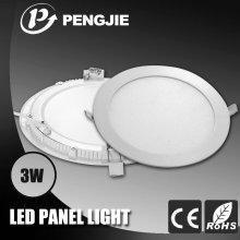 3W алюминиевый тонкий круглый светодиодный потолочный светильник для внутреннего