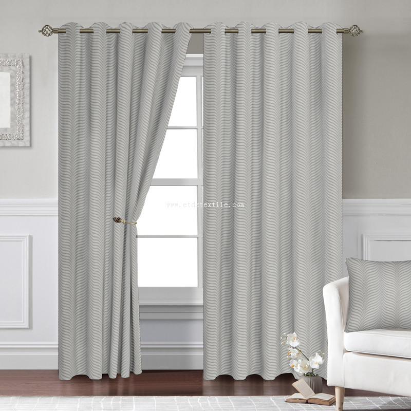 polyester shinkage yarn window curtain WZQ275