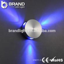 Heißer Verkauf super Helligkeit Aluminium pmma führte Wandlampe für Innendekoration, Wandlampe geführt
