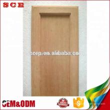 Puertas de gabinete de cocina de madera de roble rojo de panel plano americano